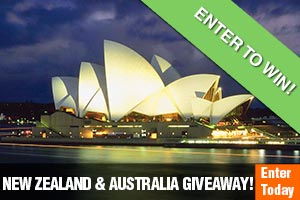 Enter our New Zealand & Australia Sweepstakes Giveaway!
